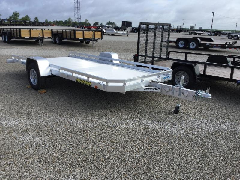 2018 Aluma 7814STILT Flatbed Trailer