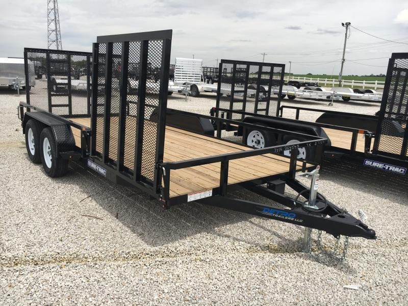 2019 Sure-Trac 7 X 16 Tube Top Utility 7K Tandem