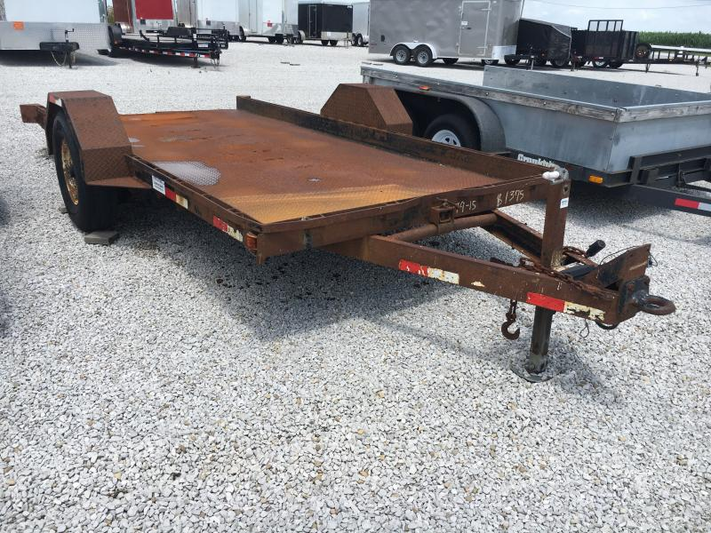 Used 2000 Imperial 14' 1 AXLE LOWBOY Equipment Trailer