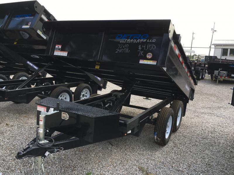 2018 Sure-Trac 72 IN X 10 Deckover Dump 7K Single Ram