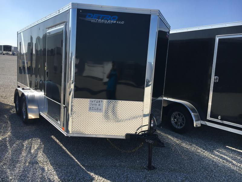 2019 United Trailers 7X14 Motorcycle Trailer