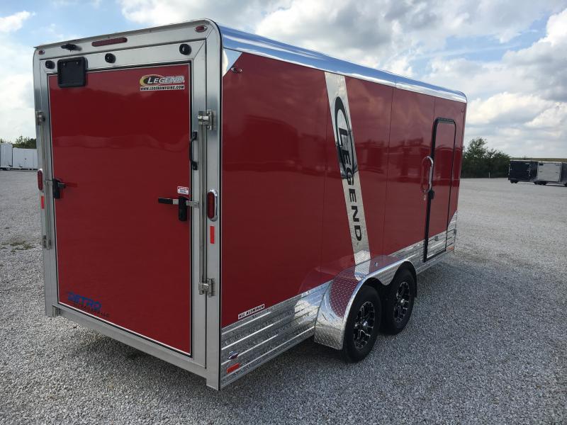2019 Legend Manufacturing 7X19 Deluxe V-Nose Enclosed Cargo Trailer