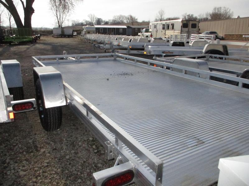 2019 Bear Track Products 81x14 Single Axle Aluminum Tilt Deck Utility Trailer