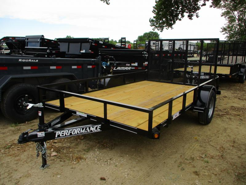 2019 Performance Trailers 83x12 Single Axle Utility Trailer