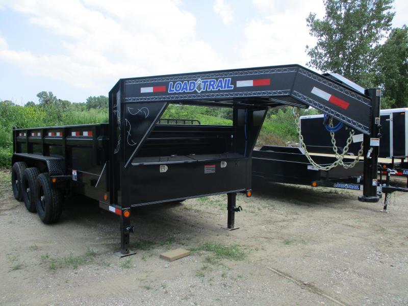 "2018 Load Trail 83""X16' Triple Axle Gooseneck Dump Trailer"