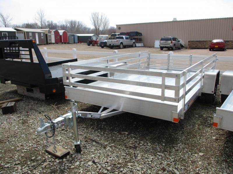 "2019 Bear Track 82""x12' Single Axle Aluminum Utility Trailer"