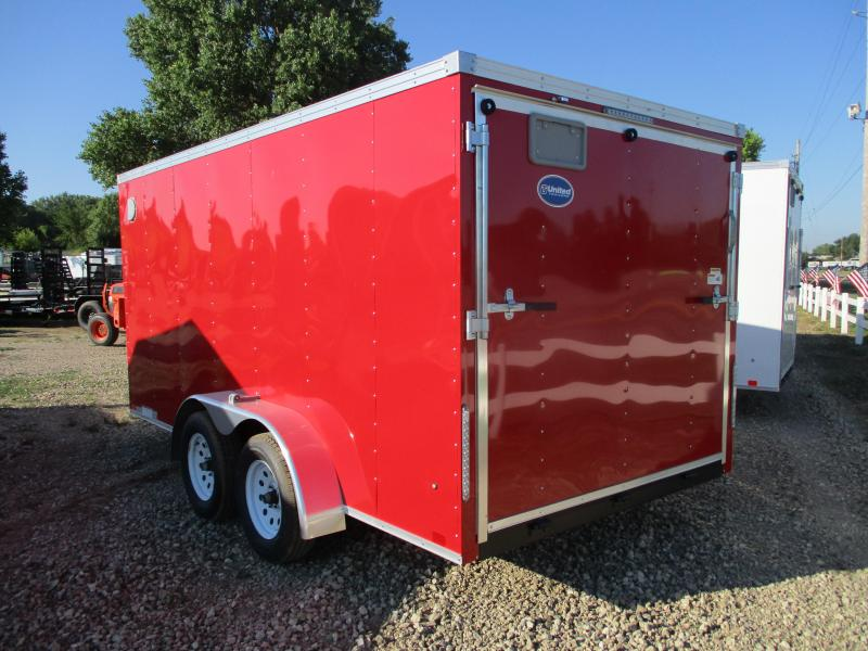 2020 United Trailers 7'x14' Tandem Axle Enclosed Cargo Trailer