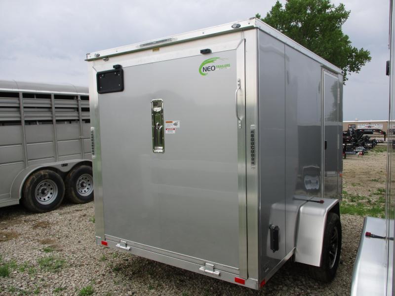 2019 NEO Trailers 6x10 Aluminum Single Axle Enclosed Cargo Trailer