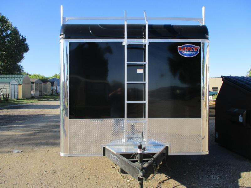 2020 United Trailers 8.5x16 Tandem Axle Contractors Enclosed Cargo Trailer