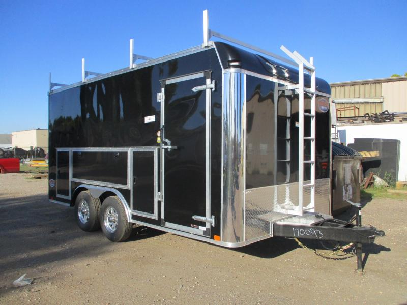 2020 United Trailers 8.5x16 Tandem Axle Contractors Enclosed Cargo Trailer