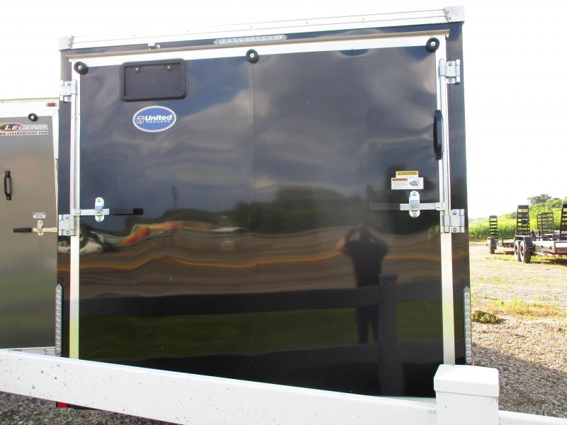 2020 United Trailers 7x14 Tandem Axle Motorcycle Enclosed Cargo Trailer