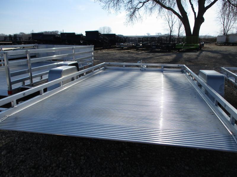 2019 Bear Track Products 81x12 Single Axle Aluminum Tilt Deck Utility Trailer