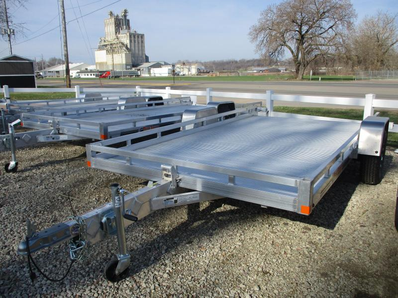 2019 Bear Track Products 81x12 Single Axle Aluminum Tilt Deck Utility Trailer