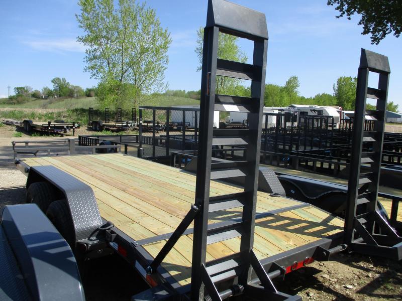 2019 Load Trail 83x18 Tandem Axle Carhauler Equipment Trailer