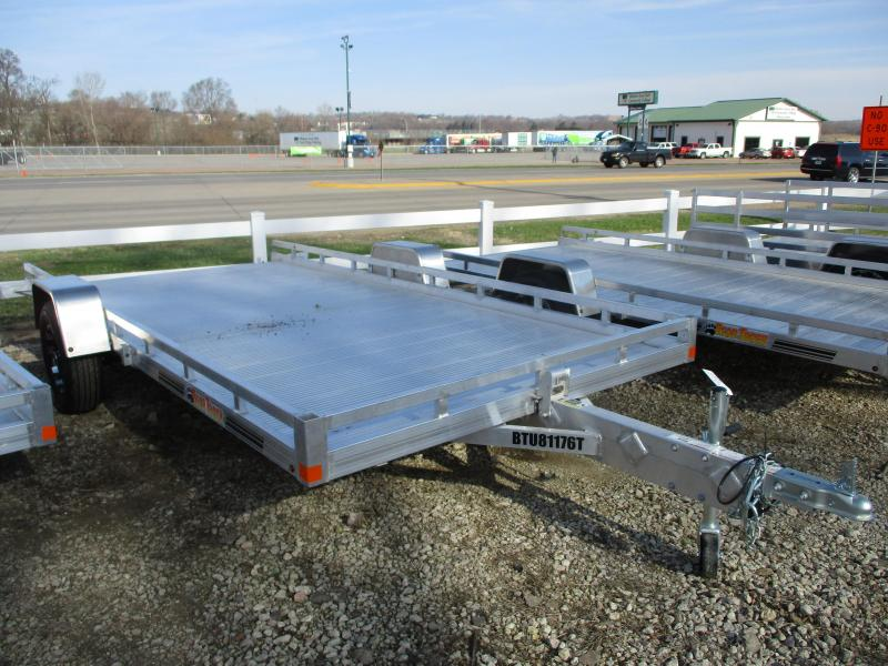 2019 Bear Track Products 81x14 Single Axle Aluminum Tilt Deck Utility Trailer