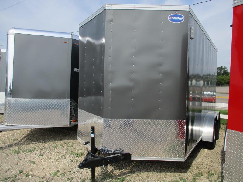 2020 United Trailers 7x14 Tandem Axle Enclosed Cargo Trailer