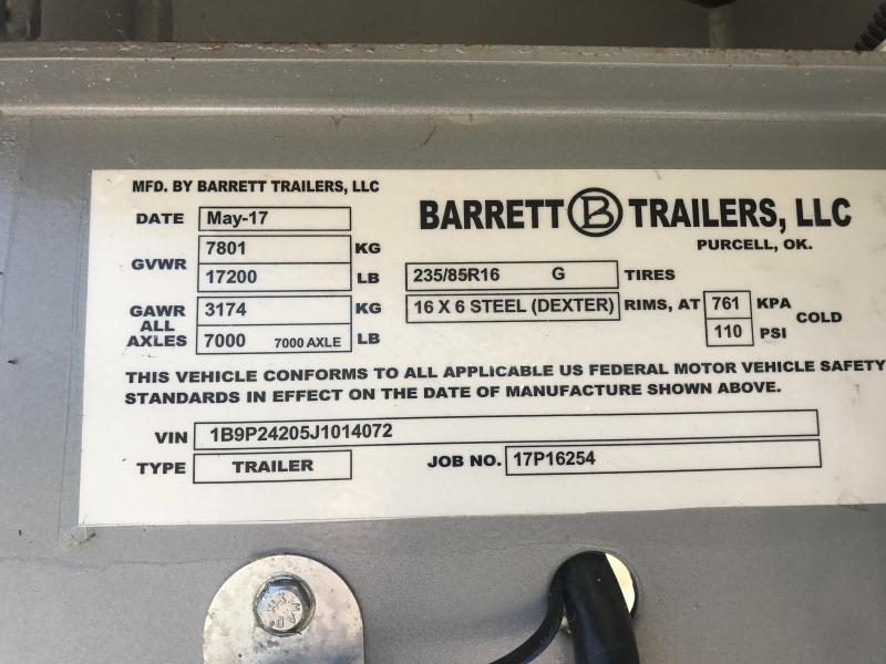 2018 Barrett SSGM 247066 MILL Nose STD Wheels