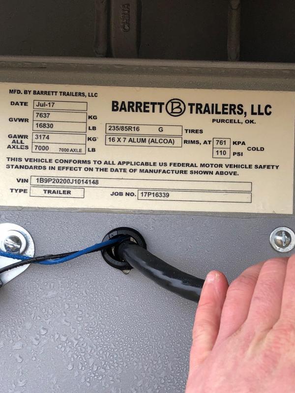 2018 Barrett Trailers Trailer Livestock Trailer