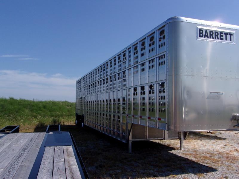 2018 Barrett Trailers 53 Cattle pot Livestock Trailer