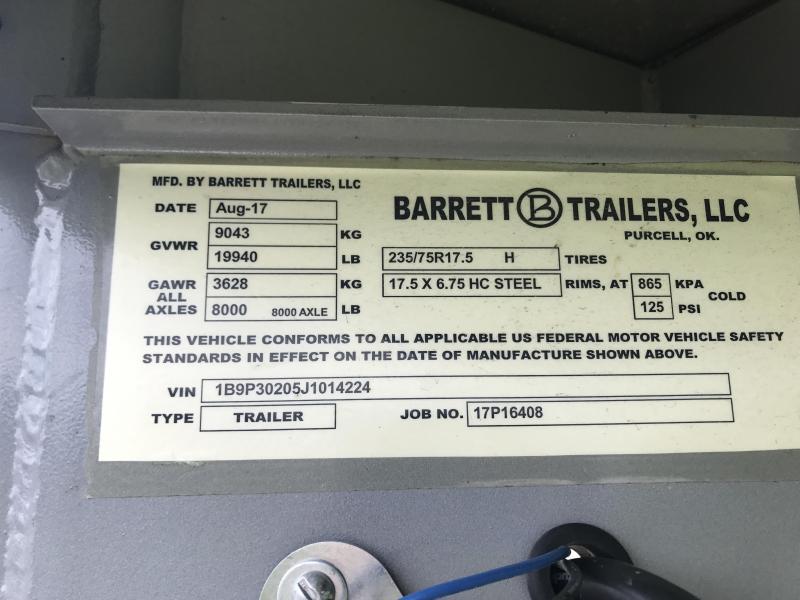 2018 Barrett GN 30ft Trailer