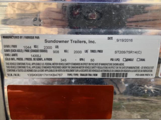 2016 Sundowner Livestock Trailer