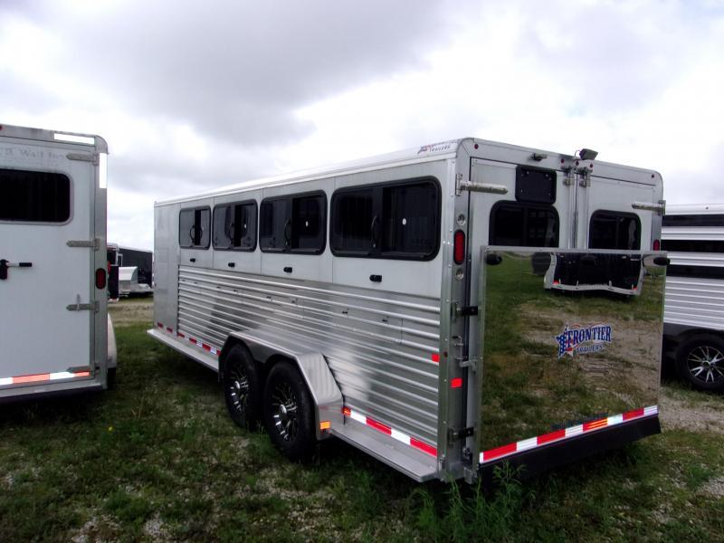 2018 Frontier 7x20DDFW WHITE 8 PEN Livestock Trailer