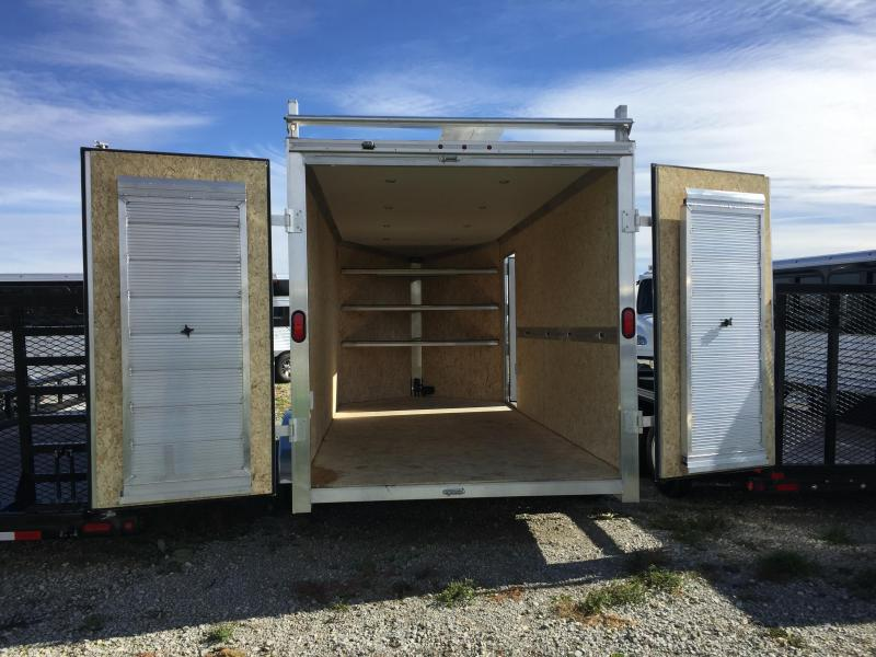 Price Reduced! 2018 EZ Hauler Contractor  7 X 16 Enclosed Cargo Trailer in Ashburn, VA