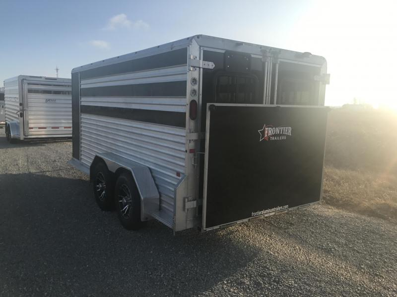 2019 Frontier 7x14 6 Pen Trailer Plexi Windows