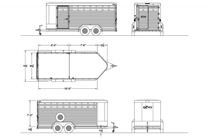 2019 Exiss STOCK 716 BP Trailer