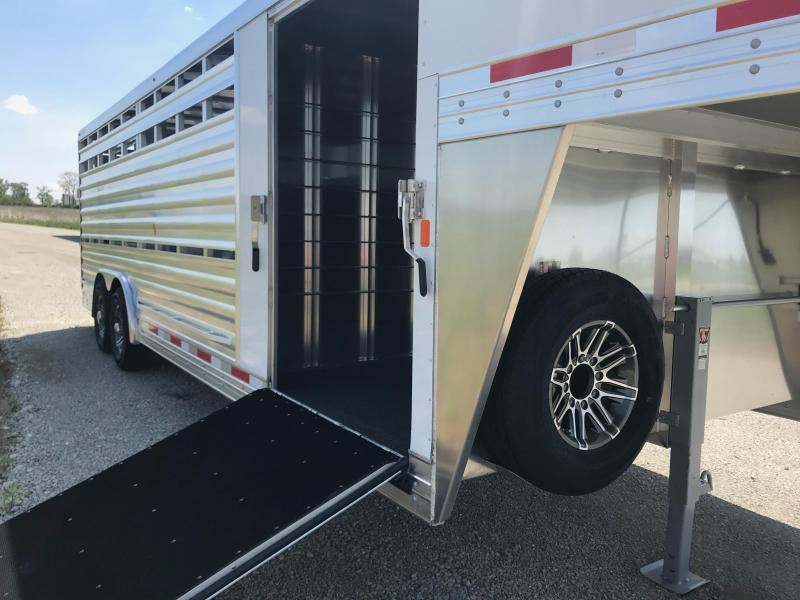 2019 Exiss STC 8024 4 pen w/ Cut gate stock Livestock Trailer