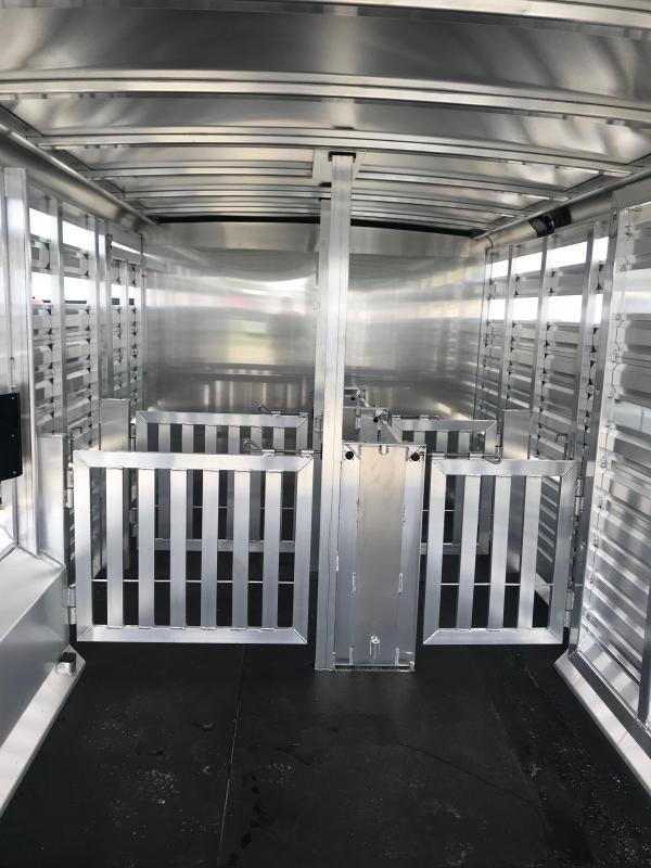 2019 Exiss STC 8024 4 pen w/ Cut gate stock Livestock Trailer