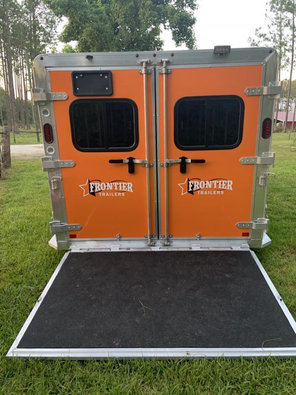 2019 Frontier Low Pro 7x14 6 Pen Trailer --Orange