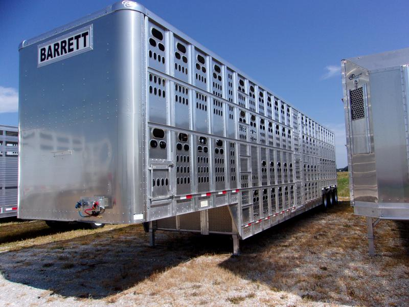2018 Barrett 53' Cattle Pot Tri Axle HT-250 Trailer