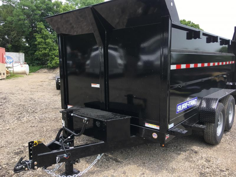 2019 Sure-Trac ST8212HLOD4-B-140 HD Low Profile Dump Trailer