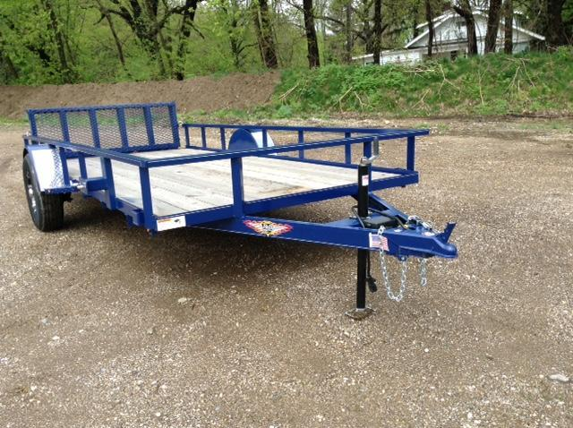 2019 H and H Trailer 76X14 STEEL RAIL SIDE 5K