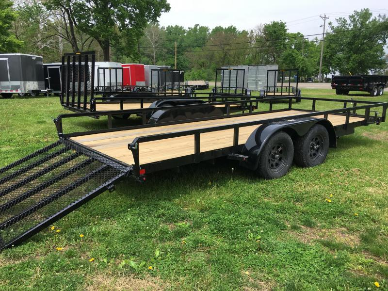 2019 H and H Trailer 82X18 STL RAILSIDE TANDEM 7K