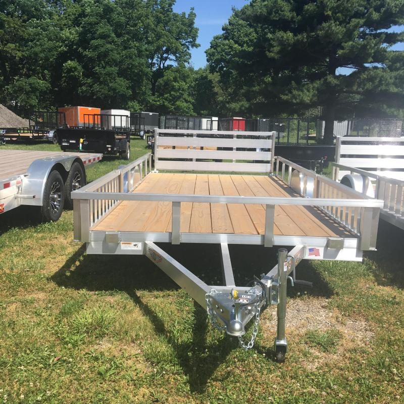 2019 H and H Trailer 82X14 RAILSIDE ALUM ATV 3K