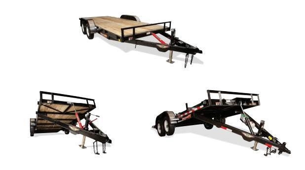 2018 H&H H8220MX-070 Manual TA Tilt Bed Trailer