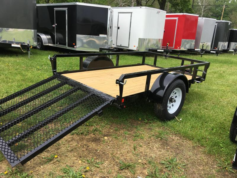 2019 H and H Trailer 60X8 STEEL RAIL SIDE 3.5K