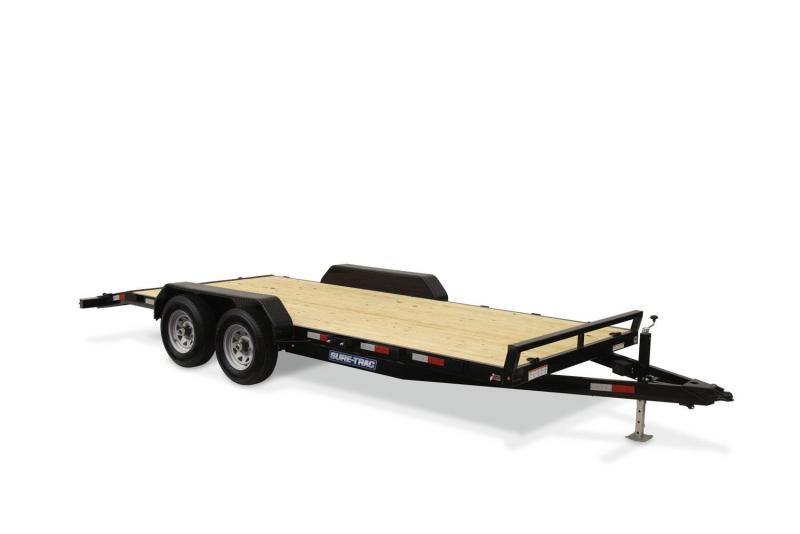 2019 Sure-Trac ST8218CHW-B-070 Flatbed Trailer