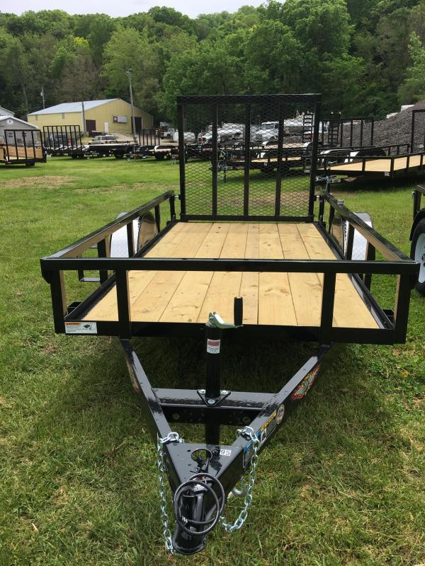 2019 H and H Trailer 60X10 STEEL RAILSIDE 3.5K