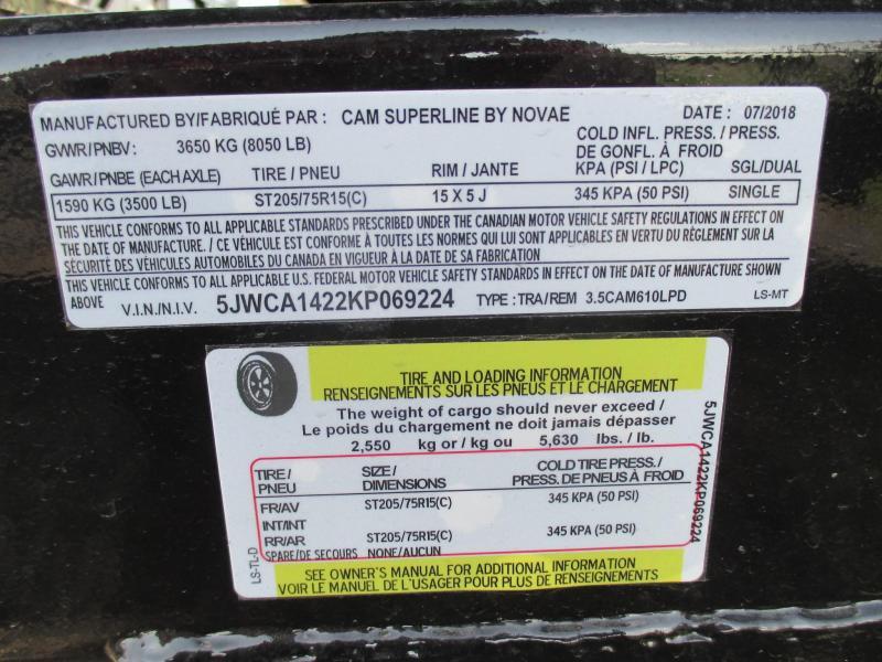 "2019 CAM Superline 72"" x 10' Dump Trailer"