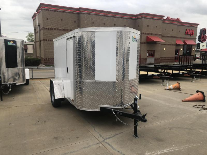 2019 Arising 5X10 WHITE Enclosed Cargo Trailer