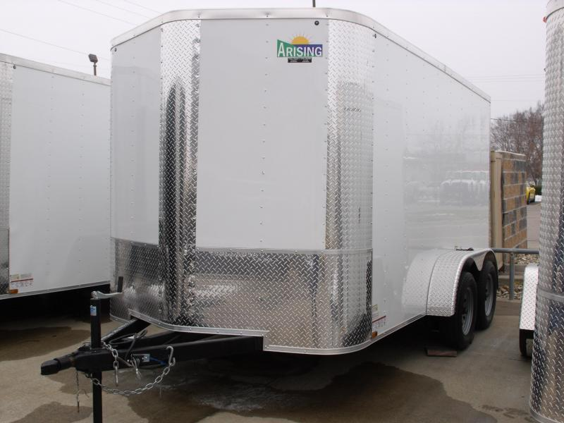 Enclosed Trailer 7 X 12 Ramp  7000 GVW ALL Tube Construction