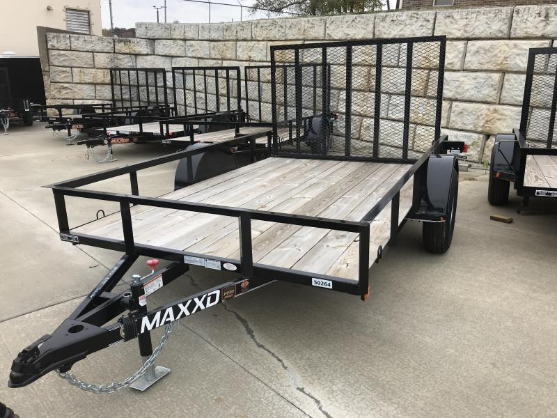 "2017 MAXXD 77"" x 10' Single Axle Economy Flatbed Utility Trailer"
