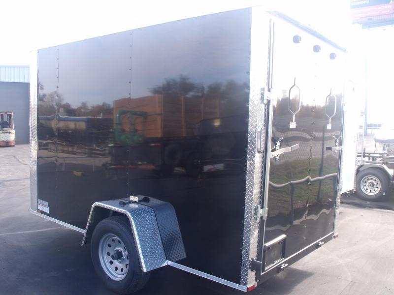 Enclosed Trailer  6 X 12 Ramp ALL Tube Construction Black IN Color 2990 Axle