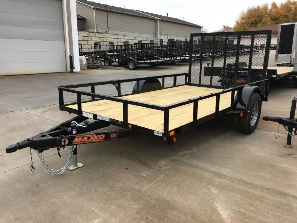 "2018 MAXXD 77"" x 12' Flatbed Single Axle Utility Trailer"