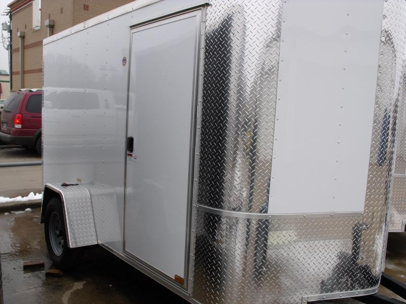 Enclosed Trailer 6 X 10 White In Color ALL Tube Construction Rap 2990 Axle