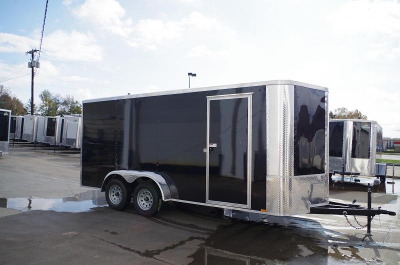 "Enclosed Trailer 7 X 16 Ramp  6' 6"" Interior 7000 GVW 4 WL Brakes"