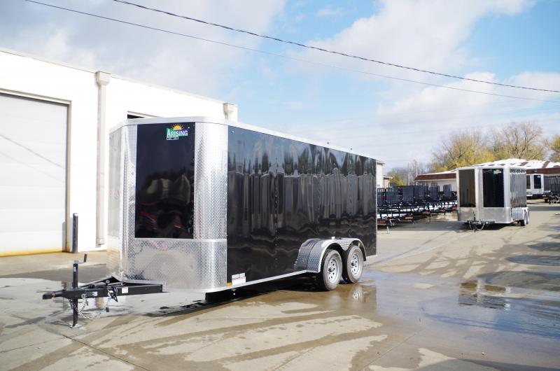 "Enclosed Trailer 7 X 16 Ramp  6' 6"" Interior 7000 GVW 4 WL Brakes"